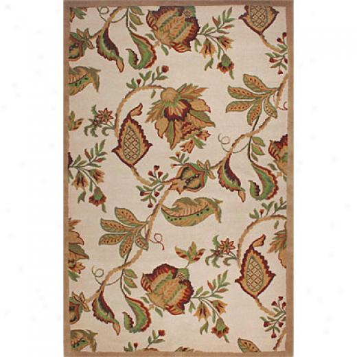 Hellenic Rug Imports, Inc. Wonders Of The World Florals 1 X 2 Floral Cream Area Rugs