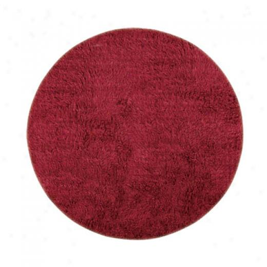 Hellenic Rug Imports, Innc. New Flokati 10 Round Red Area Rugs