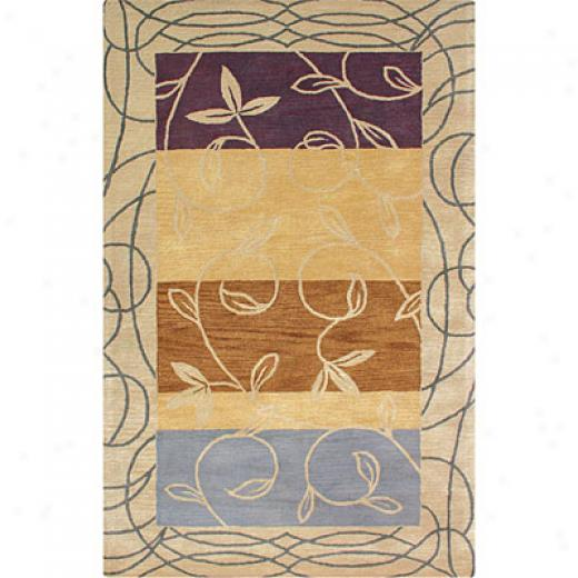 Hellenic Rug Imports, Inc. Palermo 1 X 2 Climbing Pale Gold Area Rugs