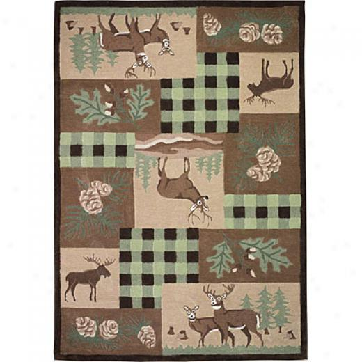 Hellenic Rug Imports, Inc. Wilderness Plus 3 X 5 Wyoming Gresn Area Rugs