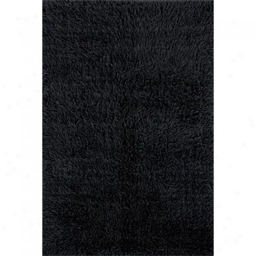 Hellenic Rug Imports, Inc. 3a Flokati 4 X 6 Black Area Rugs