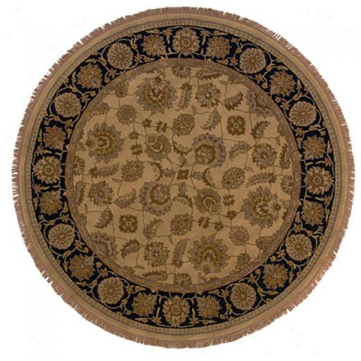 Hellenic Rug Imports, Inc. Wonders Of The World 8 Round Sarfraj Beige Area Rugs