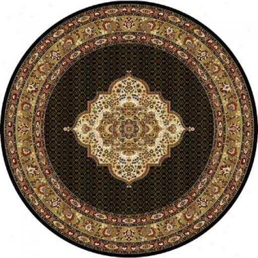 Home Dynamix Cross Woven Legends 8 X 8 Round Black Round 6513 Area Rugs