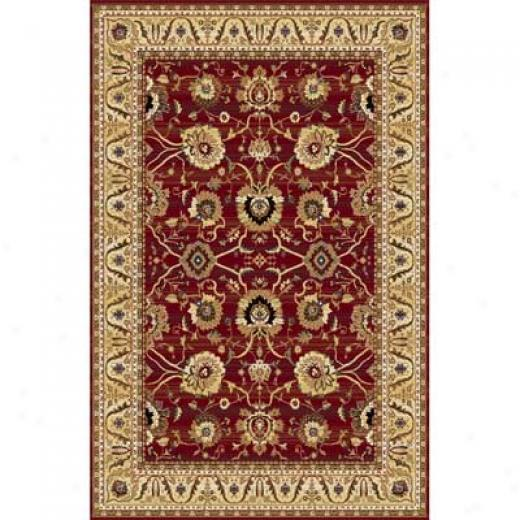 Home Dynamix Cross Woven Legends 5 X 8 Red 6517 Area Rugs