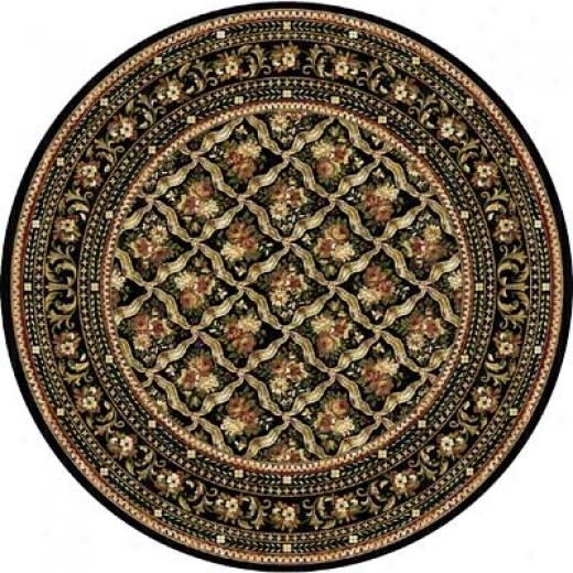 Close Dynamix Cross Woven Legends 8 X 8 Round Black Round 6514 Area Rugs