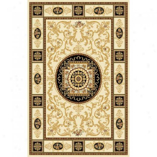 Home Dynamix Empress 5 Ft RoundC ream 5075 Area Rugs