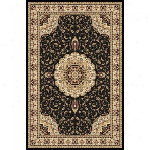 Home Dynamox Empress 8 X 10 Black 5078 Area Rugs