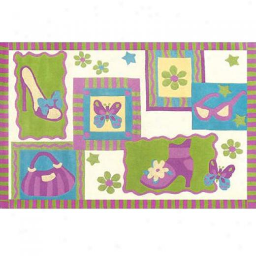 Home Dynamix Kidz Image 5 X 7 Lemon Lime Area Rugs