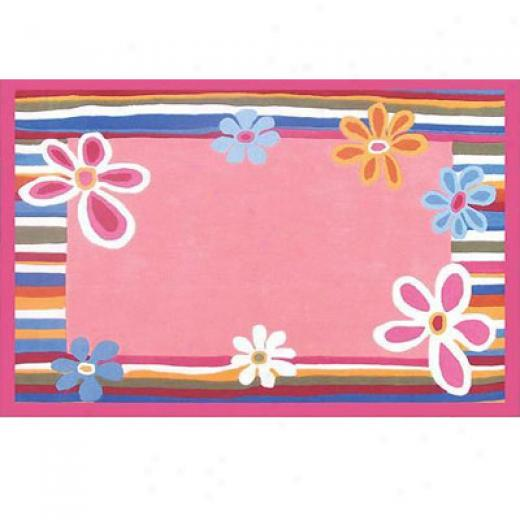 Home Dynamix Kidz Image 5 X 7 Strawberry Pink Area Rugs