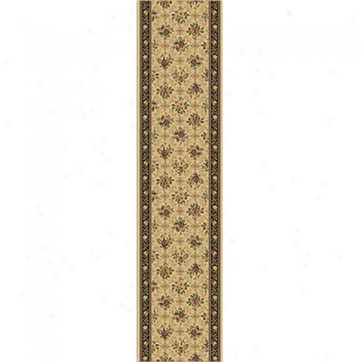 Home Dynamix Monarchy Runner Ivory Brown Area Rugs