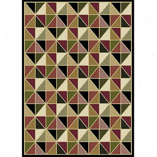 Home Dynamis Natalie 5 X 7 Black 7600 Area Rugs