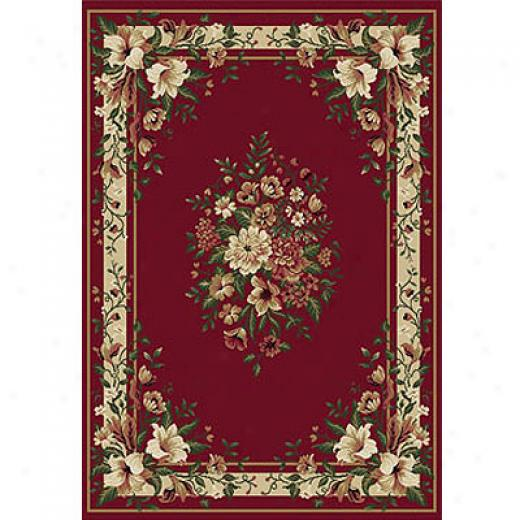 Home Dynamix Natalie 5 X 5 Round Red Area Rugs
