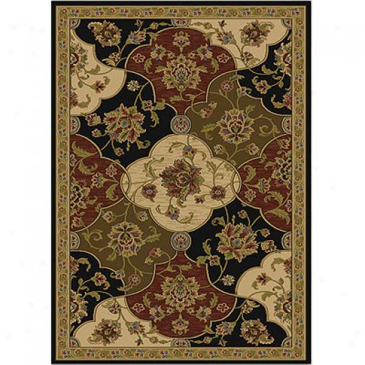 Home Dynamix Royal Treasures 5 X 8 Black 2406b Area Rugs