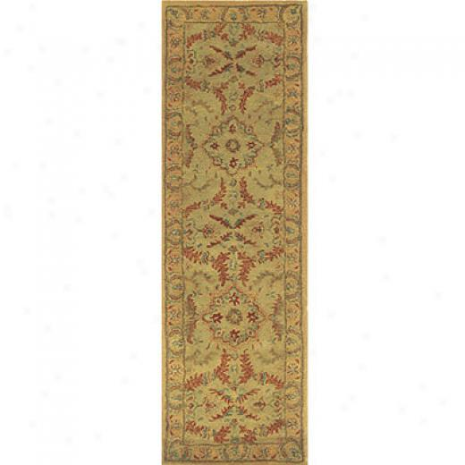 Home Dynamix Srinagar 2 X 8 Green Area Rugs