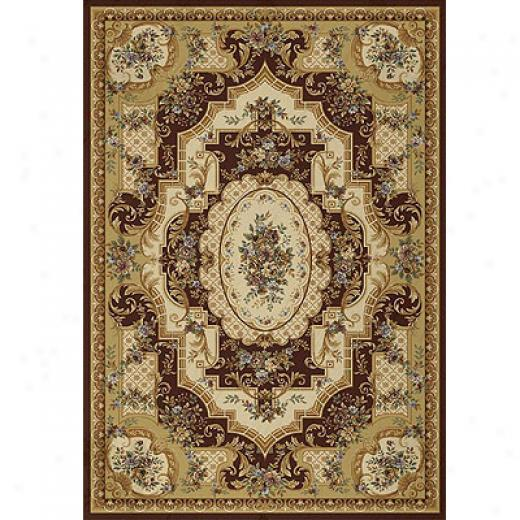 Home Dynamix Victoriana 8 X 10 Claret Area Rugs