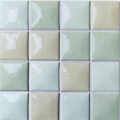 Horus Art Ceramiche Cristalli Melange 4 X 4 Verde Tile & Stone