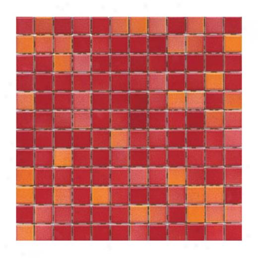 Interceramic Intertech Color Line Mix Mosaic 1 X 1 Red Tile & Stone