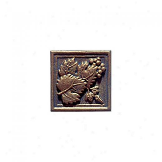 Interceramic Metal Impressions Grapevine 4 1/4 X 4 1/4 Deco A Grapevine Deco A Tile & Stone