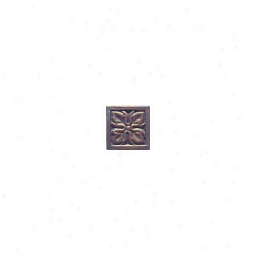 Interceramic Metal Impressions Roman Flowers 2 X 2 Deco A Roman Flowers Deco A Tile & Stone