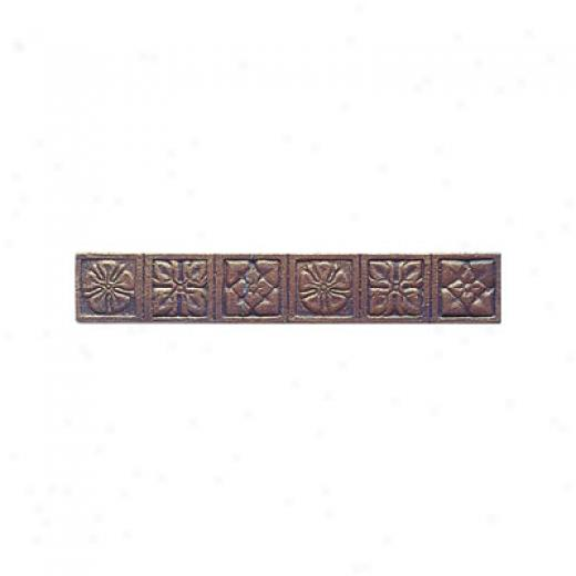 Interceramic Metal Impressions Roman Flowers 2 X 12 Border Roman Flowers Border Tile & Stone