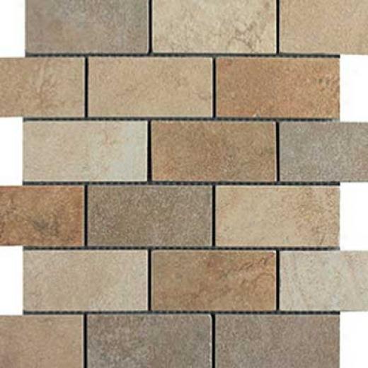 Italgres Buxy Brick Mosaic Multicolor Tile & Stone