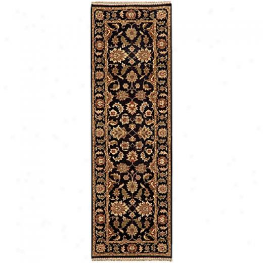 Jaipur Rugs Inc. Atlantis 8 Round Taj Ebony Red Area Rugs