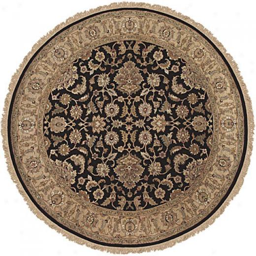 Jaipur Rugs Imc. Atlantis 6 Round Taj Ebony Sand Area Rugs