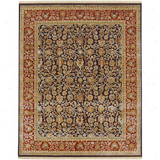 Jaipur Rugs Inc. Aurora 10 X 14 Tatyana Cocoa Brown Red Ochre Yard Rugs