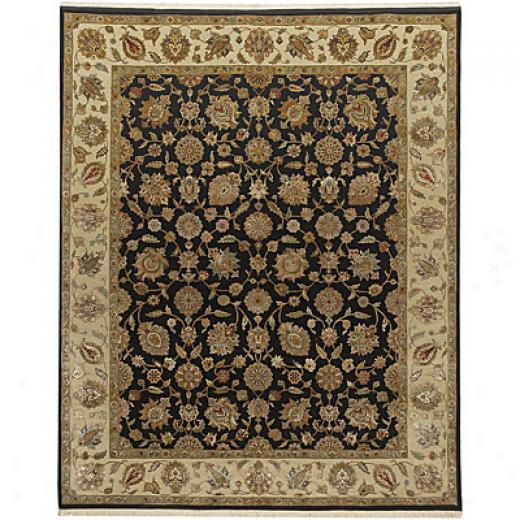 Jaipur Rugs Inc. Aurora 8 X 10 Nepbi Ebony Soft Gold Area Rugs
