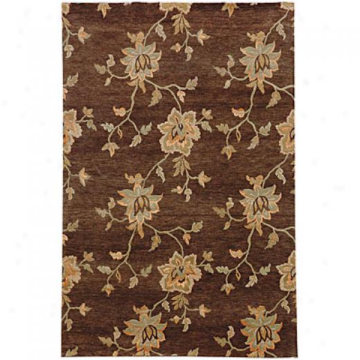 Jaipur Rugs Inc. J2 3 X 5 Frangi Covoa Brown Cocoa Brown Area Rugs