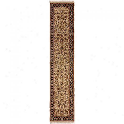 Jaipur Rugs Inc. Presidential 2 X 10 Runner Casselberry Beige Ebony Area Rugs