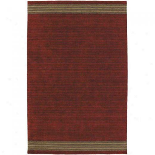 Kaleen Key West 5 X 8 Red Region Rugs