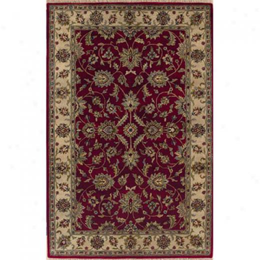Kaleen Mystical Garden 4 X 5 Secret Garden Burgundy Area Rugs