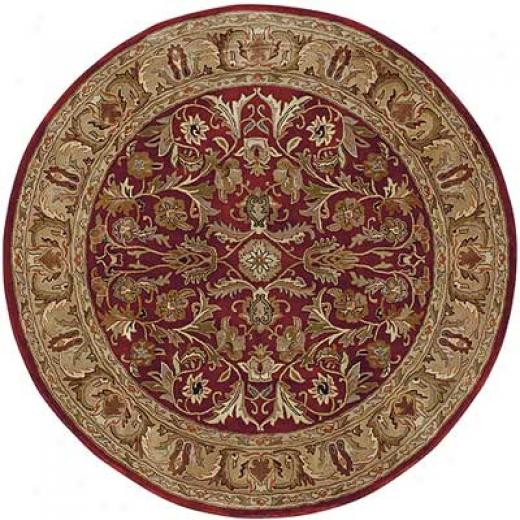 Kalen Mystical Garden 6 Round Williamsburg Garden Red Area Rugs