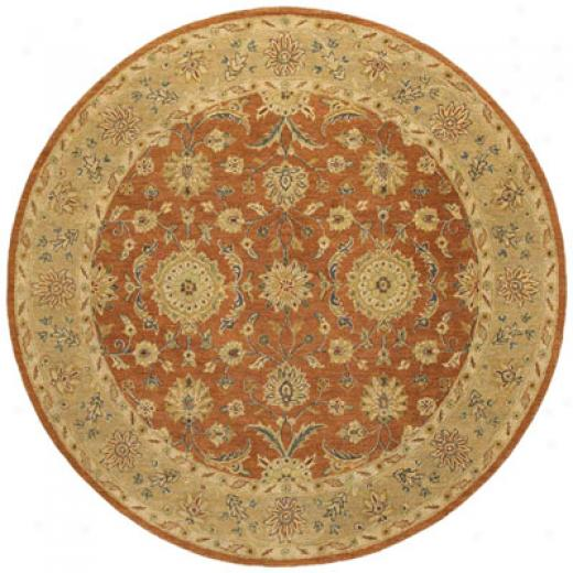 Kaleen Taxila 8 Round Andaman Tangerine Orange Area Rugs