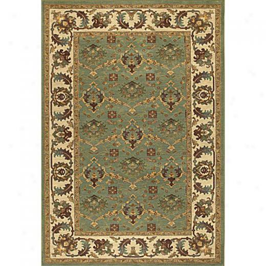 Kaleen Viceroy 5 X 8 Shelbourne Celery Area Rugs