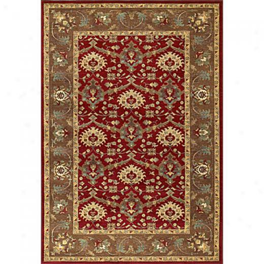 Kaleen Viceroy 9 X 13 Shelbourne Red Area Rugs