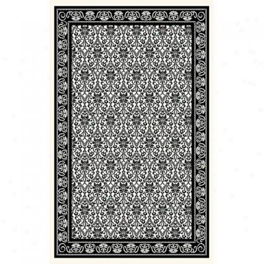 Kane Carpet After Hours 2 X 3 Panel Black On White Area Rugs