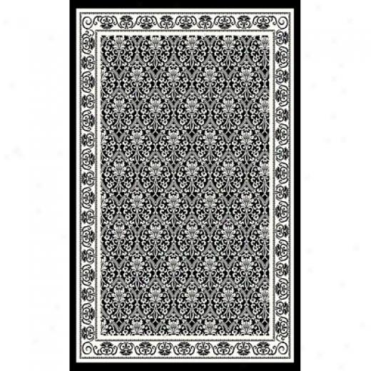 Kane Carpet After Houfs 9 X 13 Panel White On Black Area Rugs