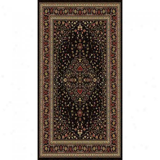 Kane Carpet American Dream 2 X 8 Runner Medallion Black Area Rugs