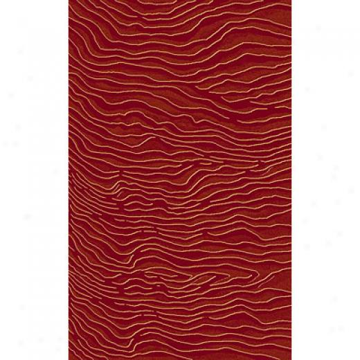 Kane Carpet Central Park 2 X 3 Dunes Red Area Rugs