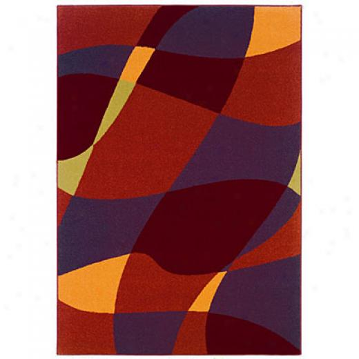 Kane Carpet Euphoria 8 X 10 Abstract Fire Area Rugs