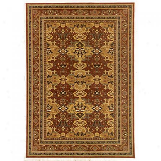 Kane Carpet Legacy 8 X 10 Panel Kirkman Red Area Rugs
