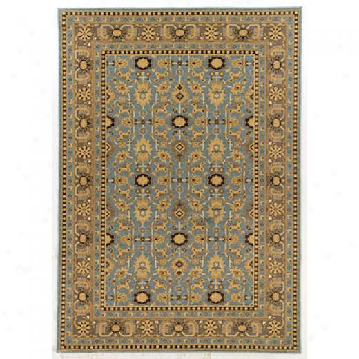 Kane Carpet Legacy 9 X 13 Oushak Teal Area Rugs