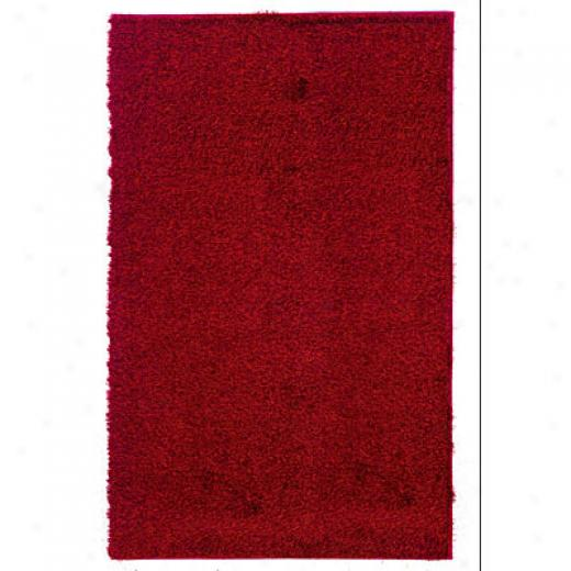 Kane Carpet Silky Desire Shag 4 X 6 Plush Beetroot Area Rugs
