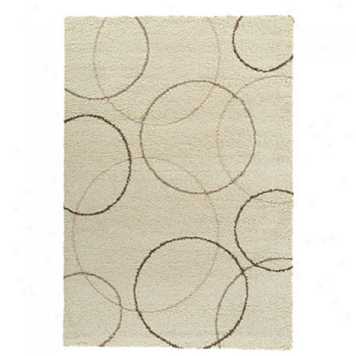 Kane Carpet Supteme Shag 2 X 8 Runner Circles eNutral Area Rugs