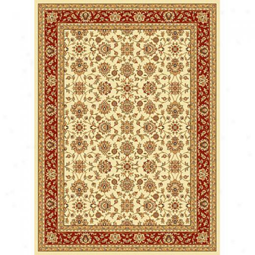 Kas Oriental Rugs. Inc. Alexandria Runner 2 X 7 Alexandria Ivory/red All-over Kashan Area Rugs
