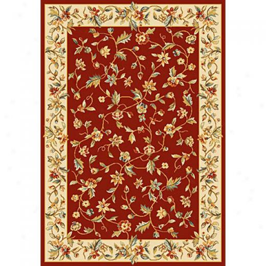 Kas Oriental Rugs. Inc. Alexandria 3 X 5 Alexandria Red/ivory Allover Floral Vine Area Rugs