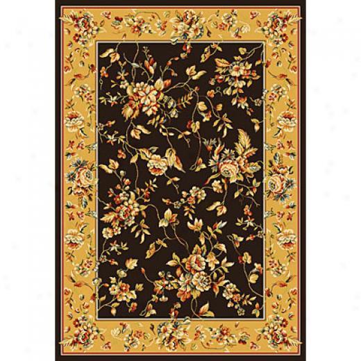 Kas Oriental Rugs. Inc. Alexandria 5 Round Alexandria Black/gold Rose Garden Area Rugs