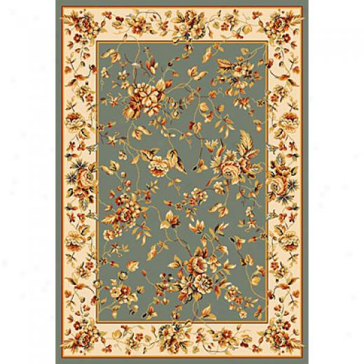 Kas Oriental Rugs. Inc. Alexandria 3 X 5 Alexandria Blue/ivory Rose Garden Superficial contents Rugs